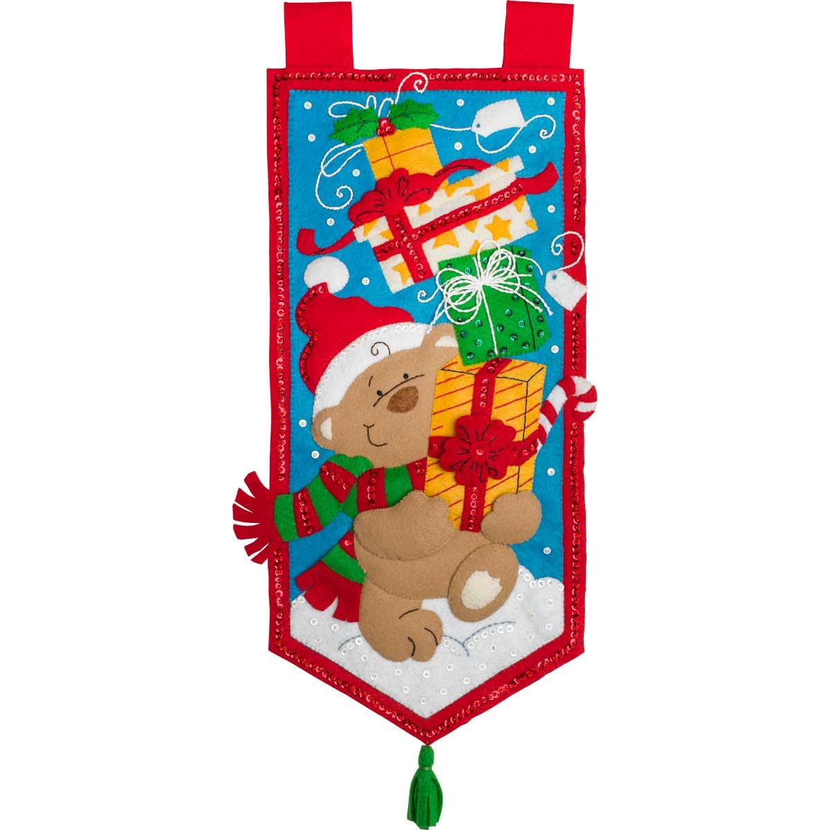 Bucilla ® Seasonal - Felt - Home Decor - Hallmark -  Bearing Gifts Wall Hanging