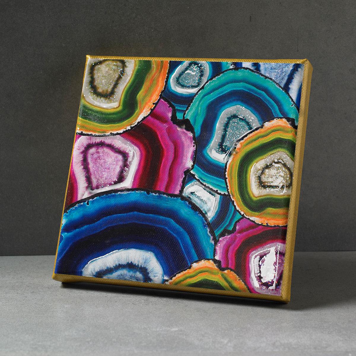 Geode Canvas Plaque