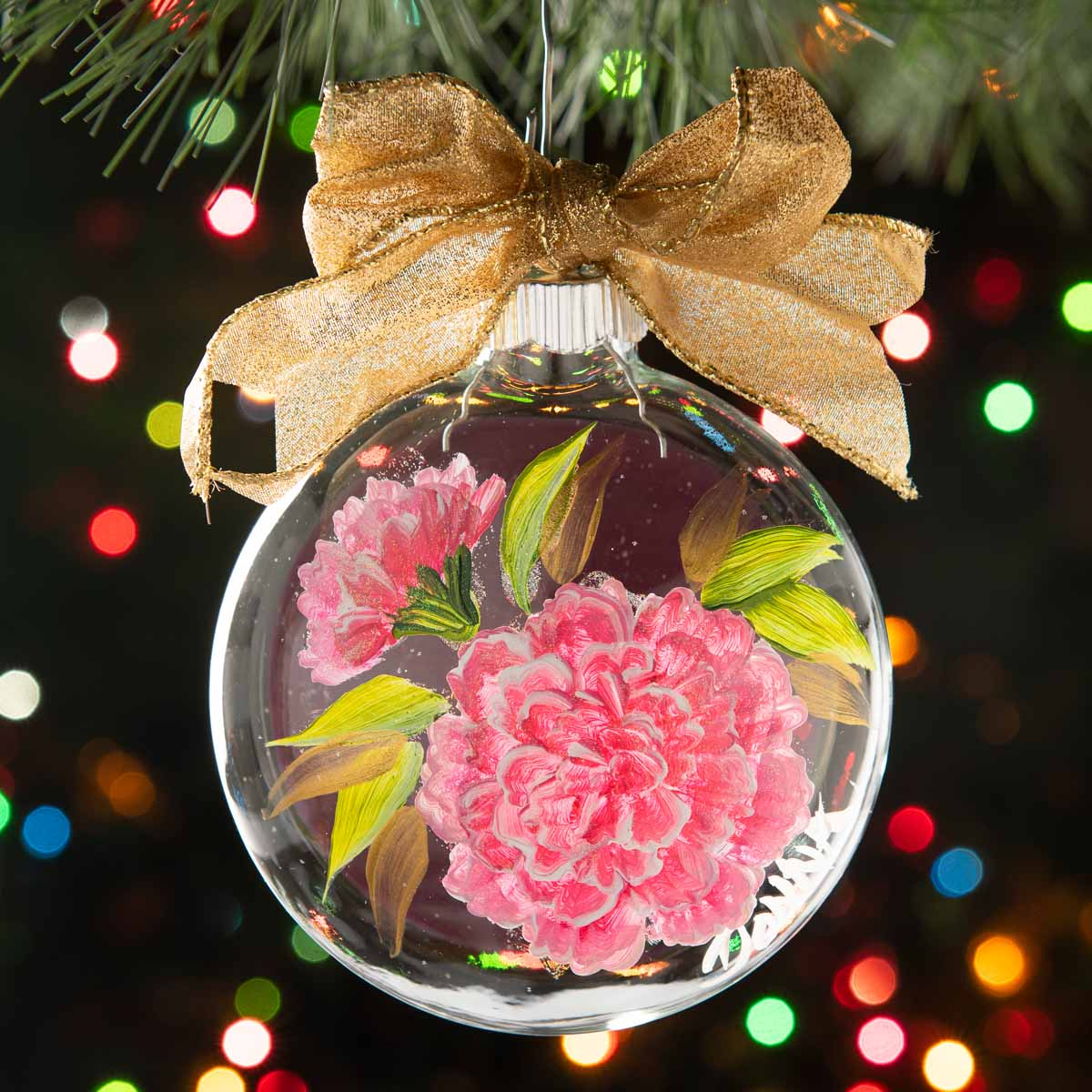 FolkArt One Stroke Flower of the Month Ornaments