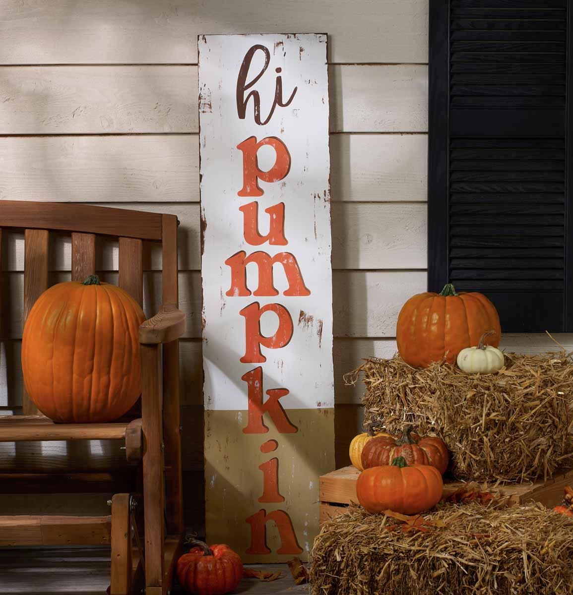 Hi Pumpkin Sign