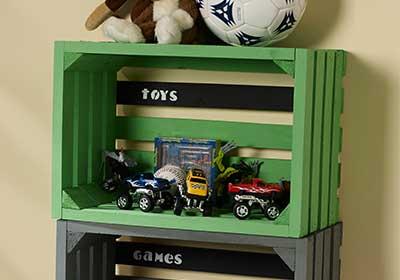 DIY Storage Crates for Playroom