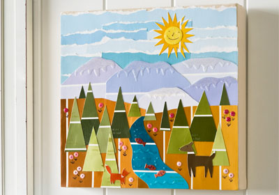 Paint Chip Landscape With Mod Podge