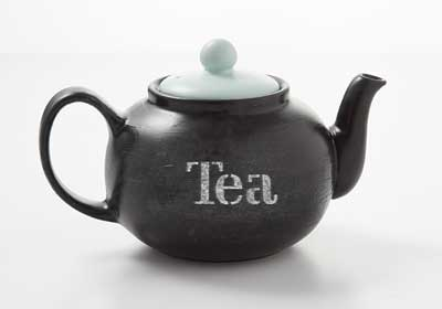 Chalkboard Painted Tea Pot