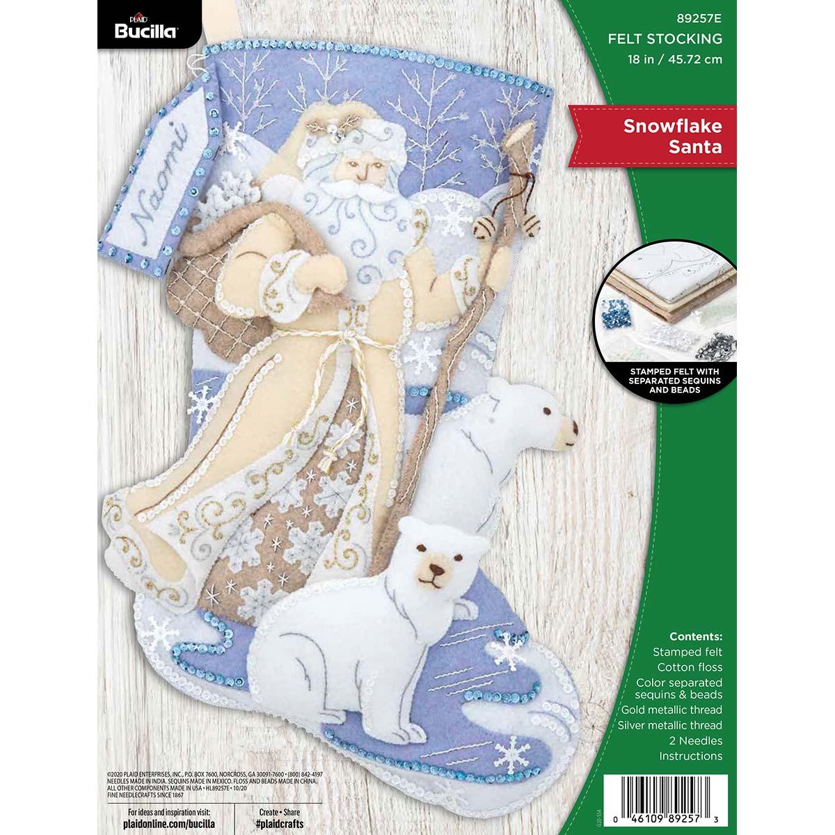 Bucilla ® Seasonal - Felt - Stocking Kits - Snowflake Santa - 89257E