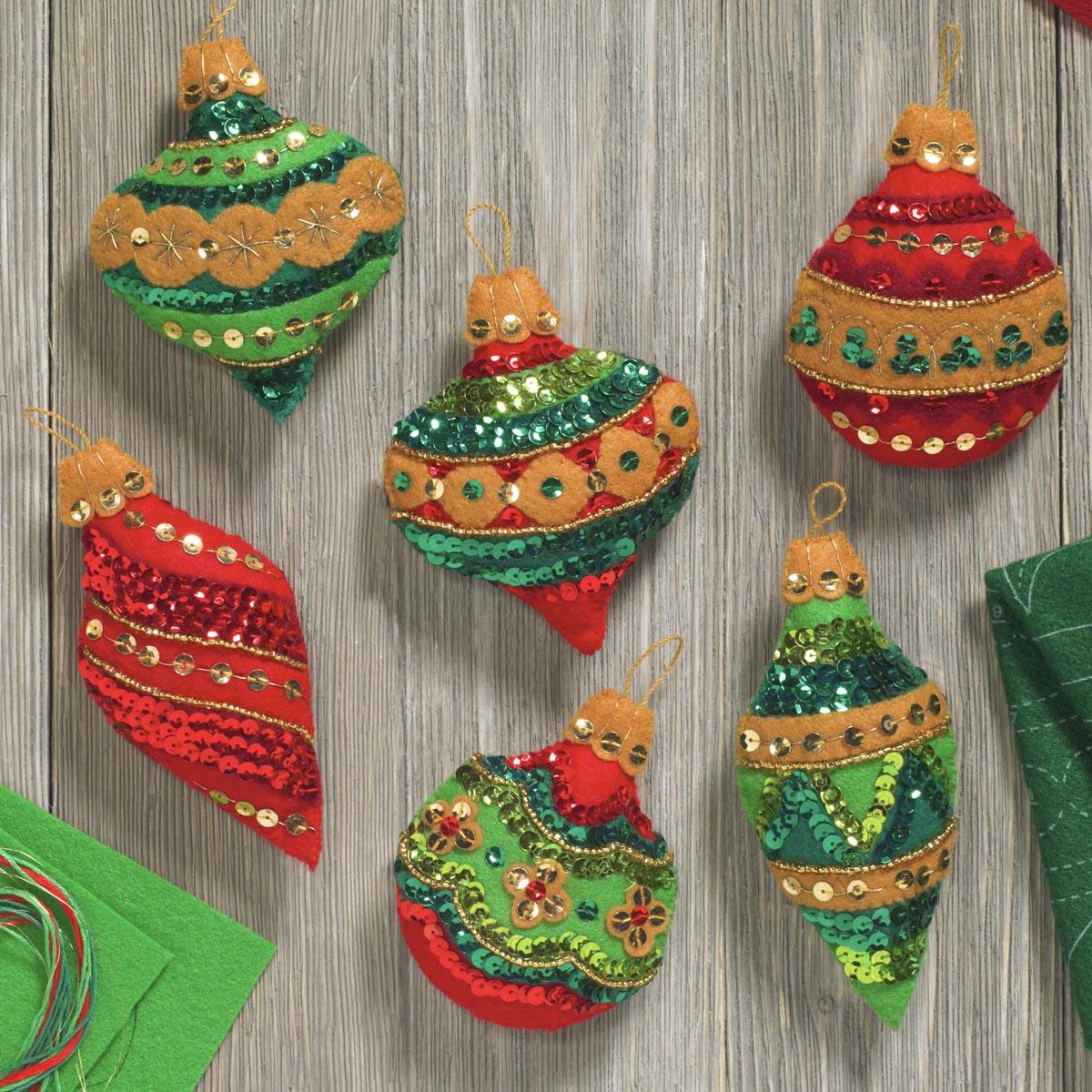Bucilla ® Seasonal - Felt - Ornament Kits - Glitzy