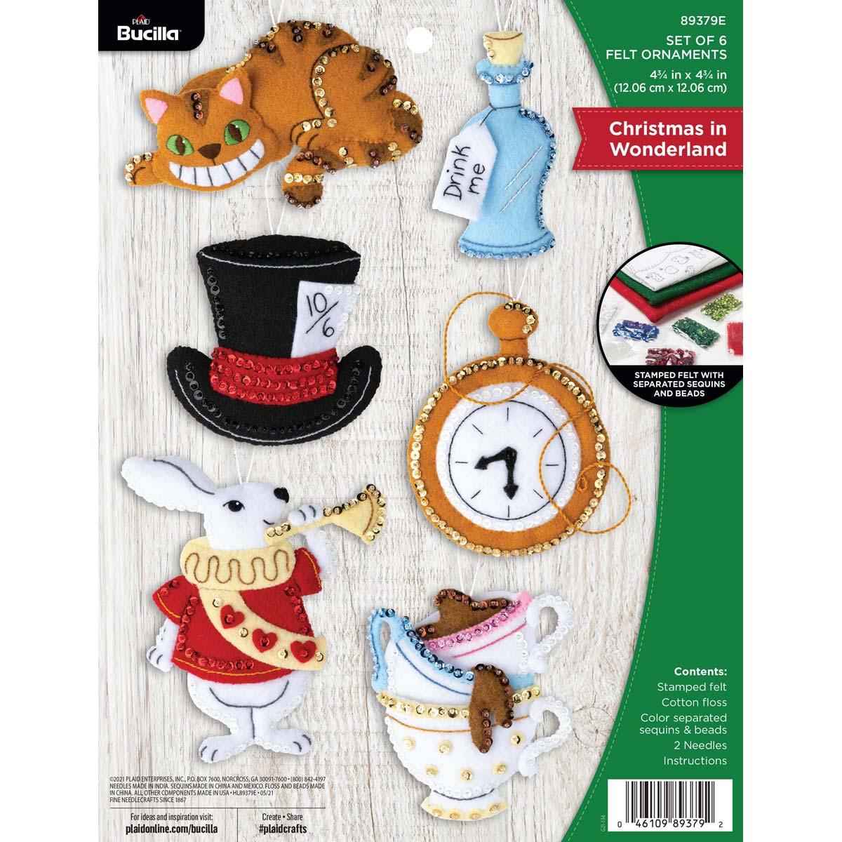 Bucilla ® Seasonal - Felt - Ornament Kits - Christmas in Wonderland - 89379E