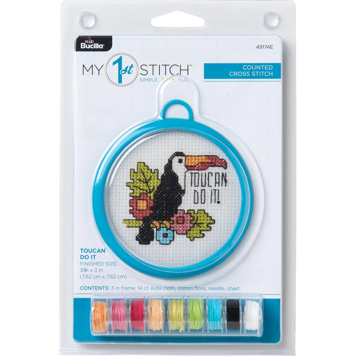 Bucilla ® My 1st Stitch™ - Counted Cross Stitch Kits - Mini - Toucan Do It