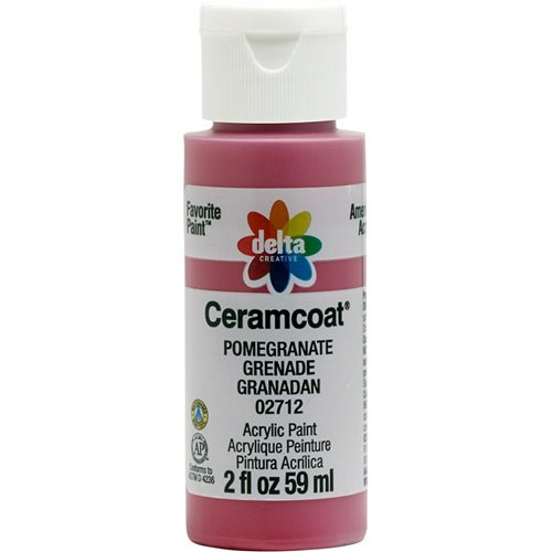 Delta Ceramcoat ® Acrylic Paint - Pomegranate, 2 oz.
