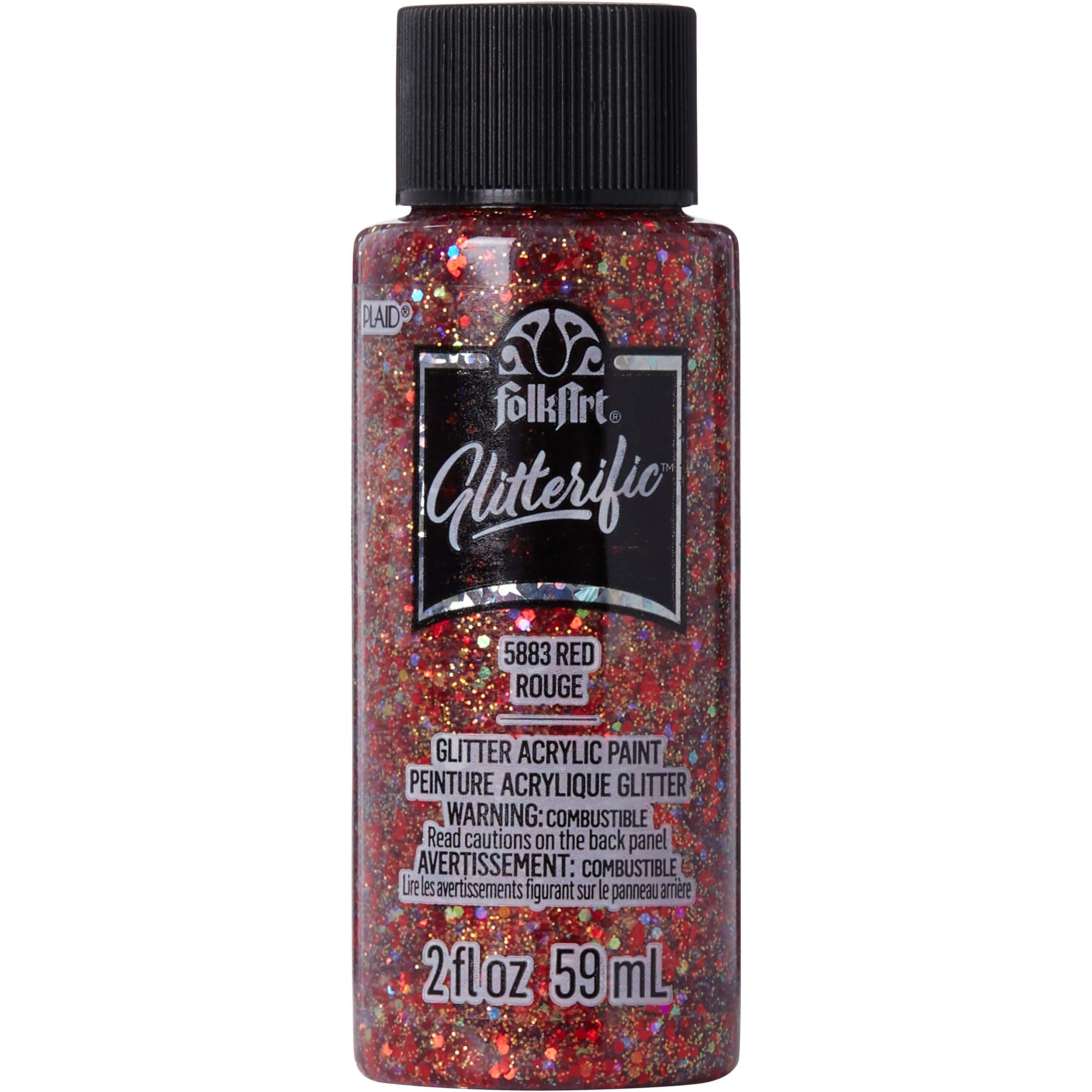 FolkArt ® Glitterific™ Acrylic Paint - Red, 2 oz. - 5883