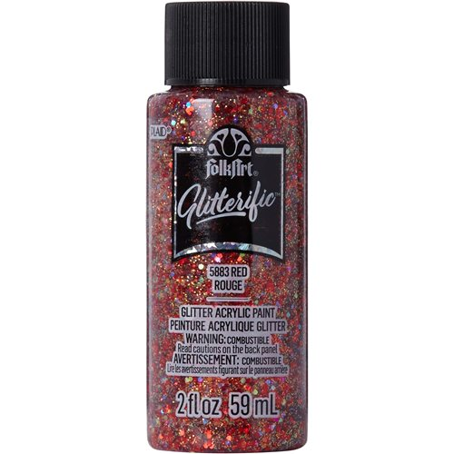 FolkArt ® Glitterific™ Acrylic Paint - Red, 2 oz.