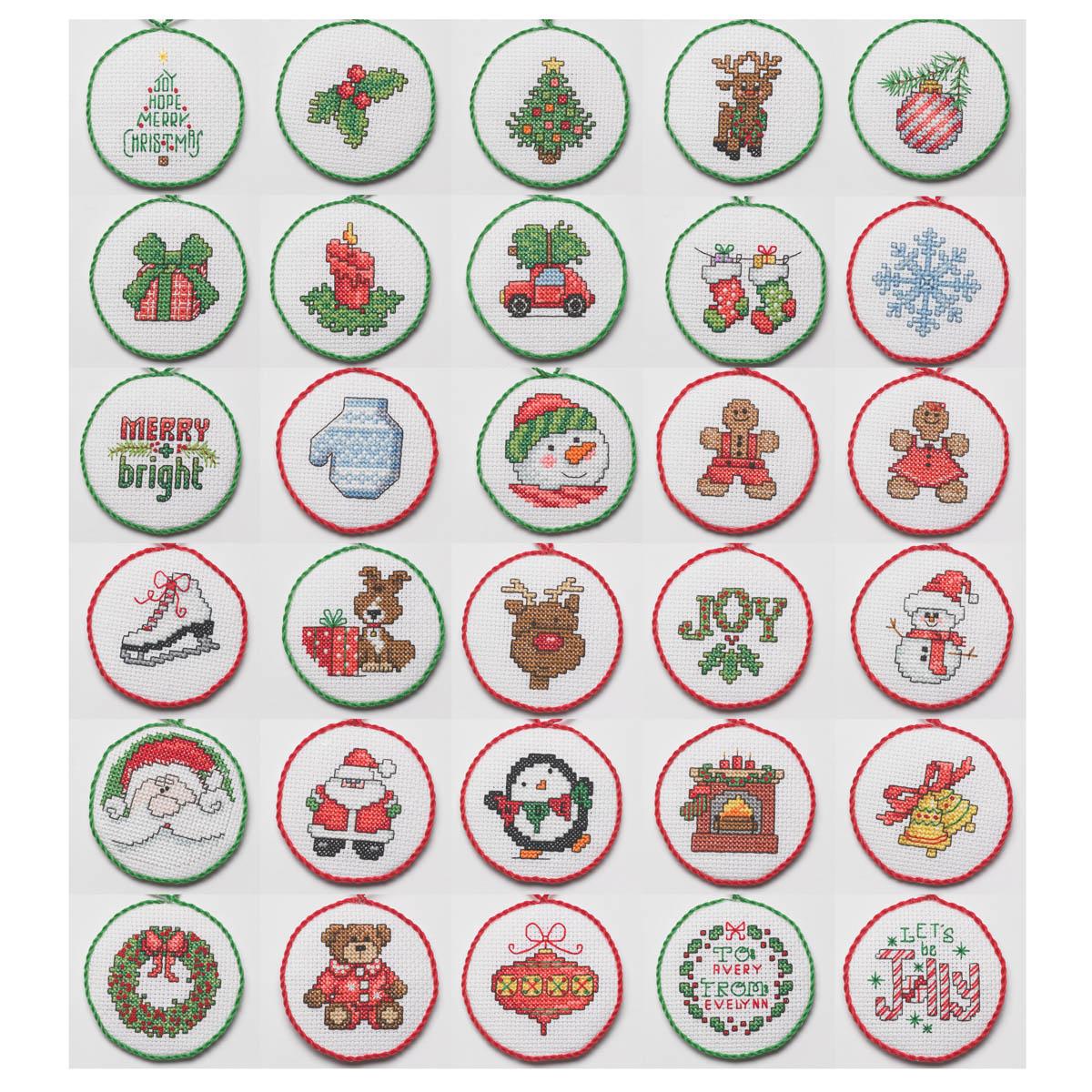 Bucilla ® Seasonal - Counted Cross Stitch - Ornament Kits - Christmas Minis