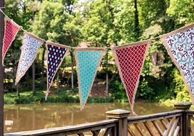 DIY Patriotic Pennant Banner