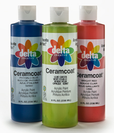Delta Ceramcoat ® Acrylic Paint - Ultra Blue, 8 oz.