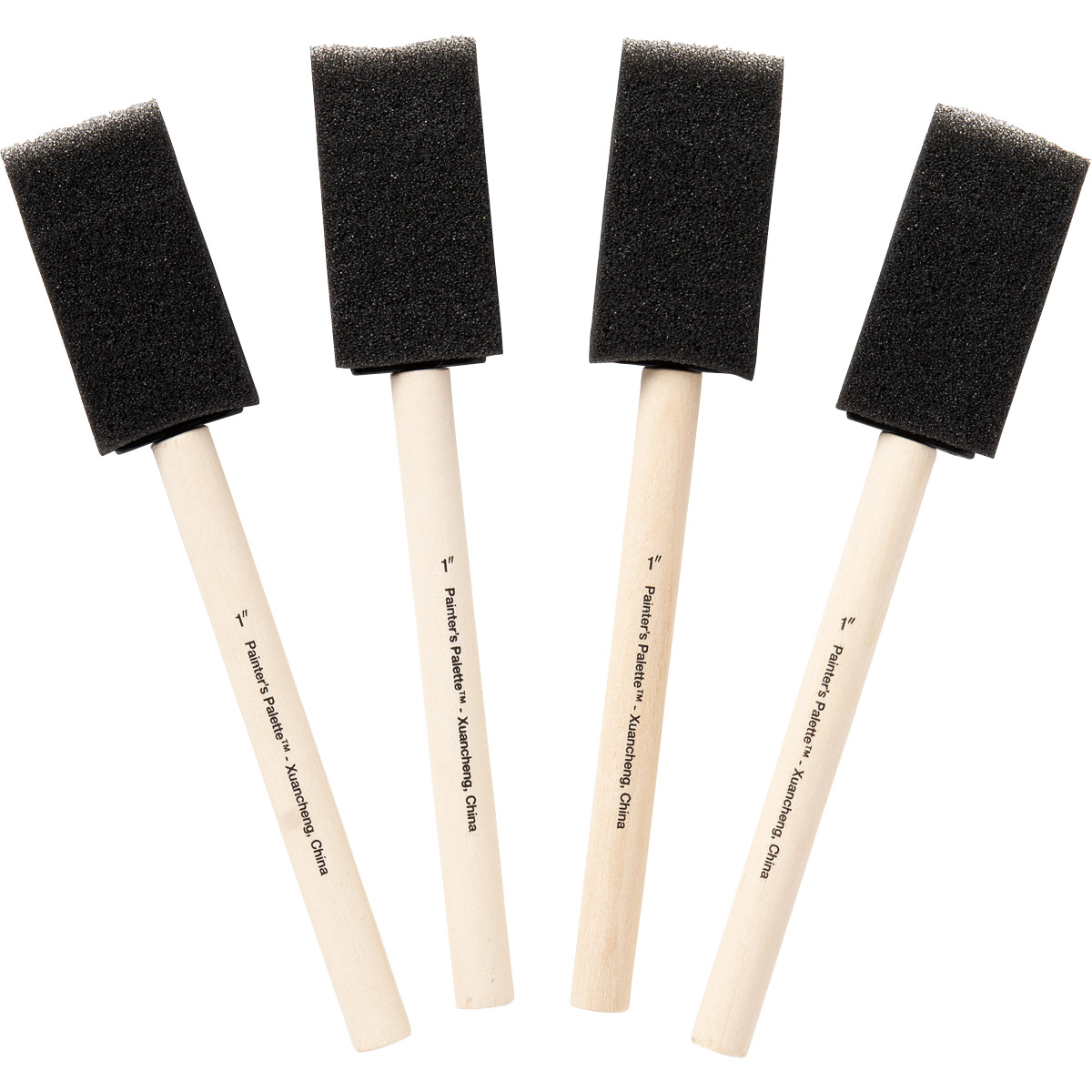 Plaid ® Painter's Palette™ Foam Brush Set, 1 inch, 4 pcs.