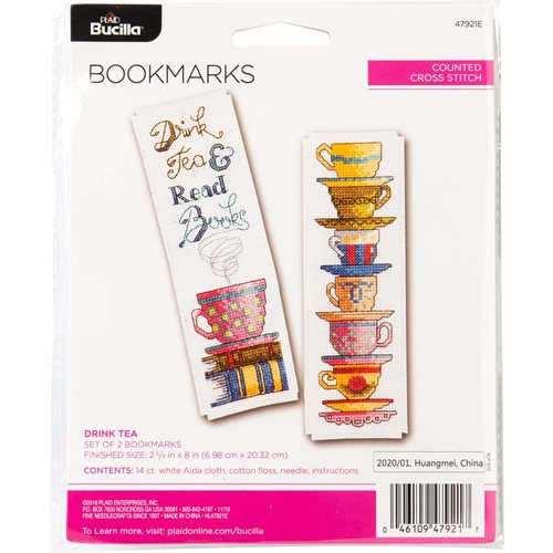 Bucilla ® Counted Cross Stitch - Bookmarks - Drink Tea - 47921E