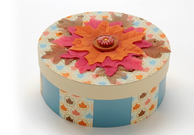 Round Fall Leaf Box
