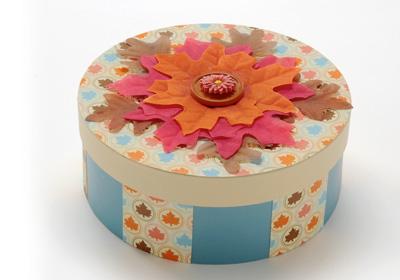 Round Fall Leaf Box