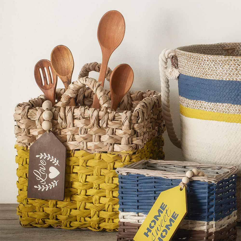 Natural Basket Collection with Tags