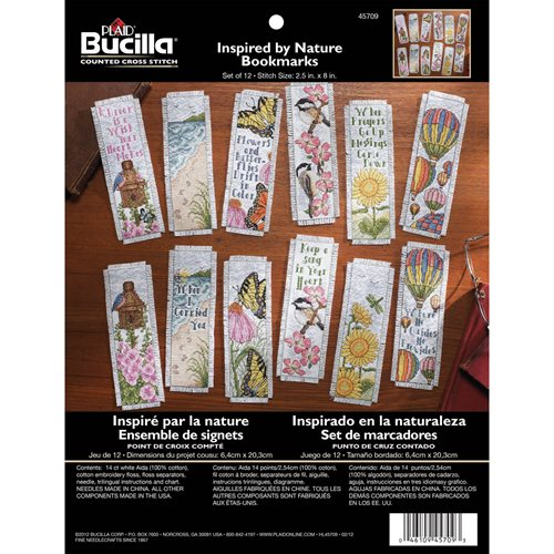 Bucilla ® Counted Cross Stitch - Bookmark Kits - Inspired by Nature