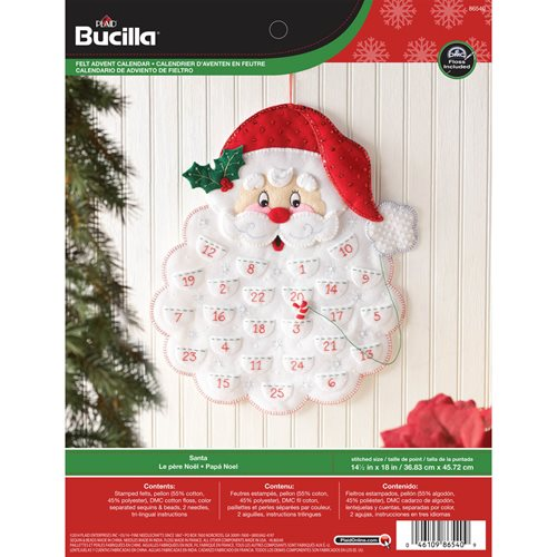 Bucilla ® Seasonal - Felt - Home Decor - Advent Calendar Kits - Santa's Beard