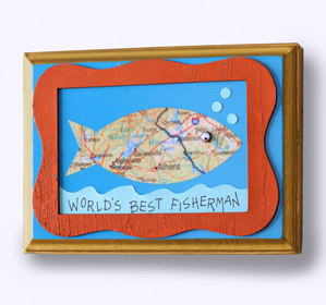 World's Best Fisherman Plaque