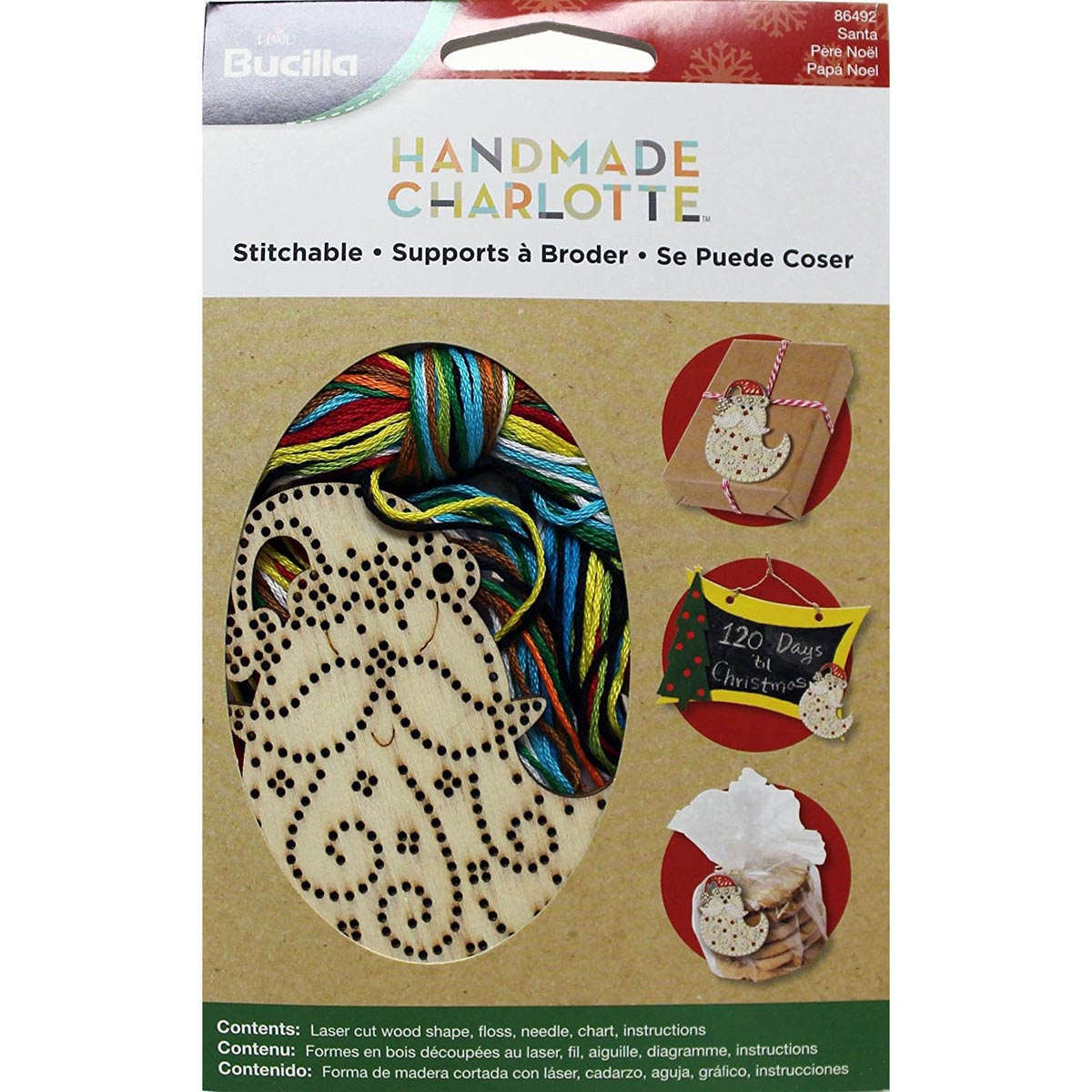 Bucilla ® Seasonal Handmade Charlotte™ Wood Stitchables - Santa