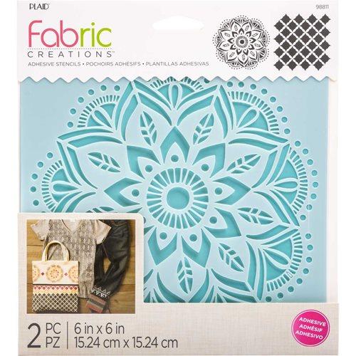 4c991a4c9 Fabric Creations™ Adhesive Stencils - Mandala, ...
