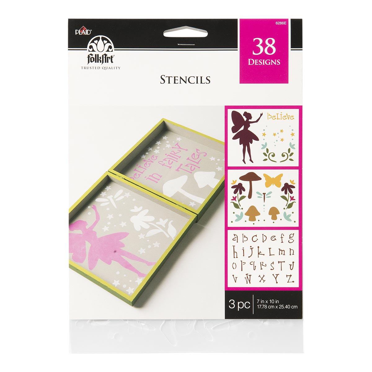 FolkArt ® Stencil Value Packs - Fairy Garden, 7