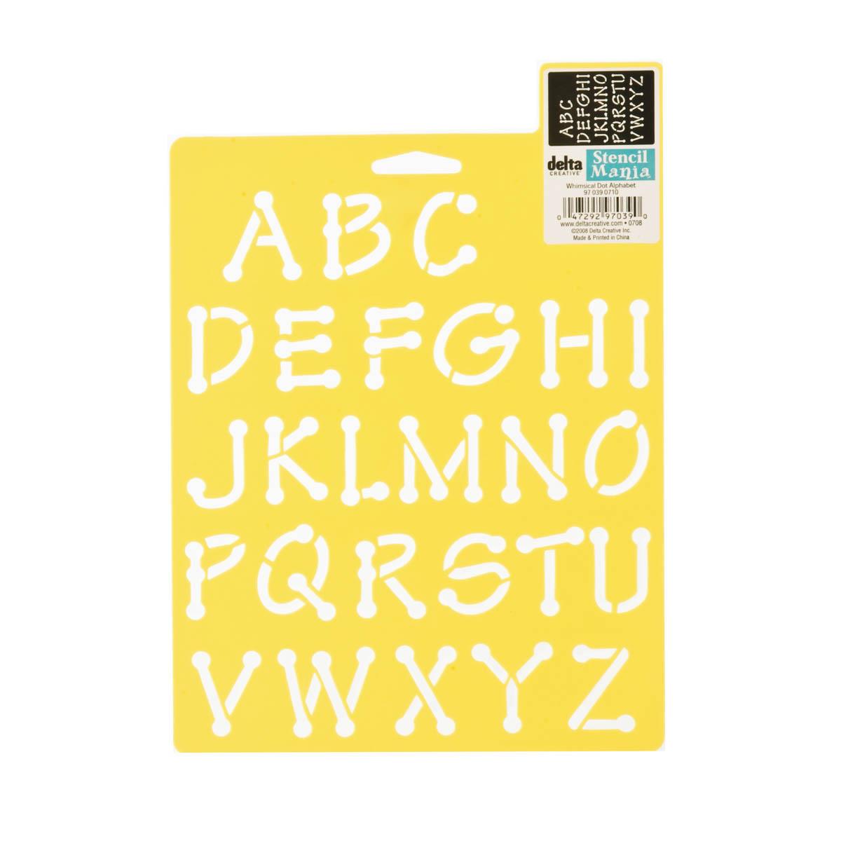 Delta Stencil Mania™ - Alphabet - Whimsical Dot