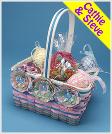 Tattered Paper Flower Easter Basket