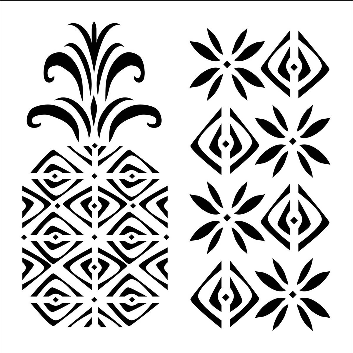 FolkArt ® Painting Stencils - Small - Pineapple - 31473