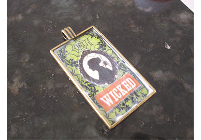 Wicked Halloween Necklace with Mod Podge
