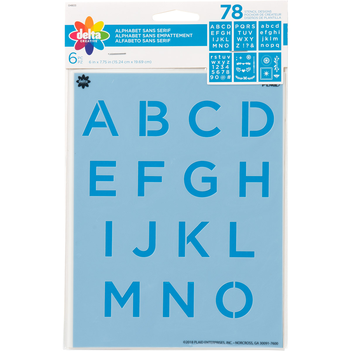 Delta Creative™ Stencil - Alphabet Sans Serif