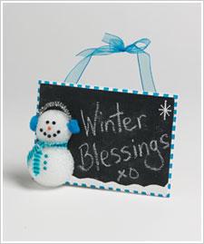 Snowman Writing Slate