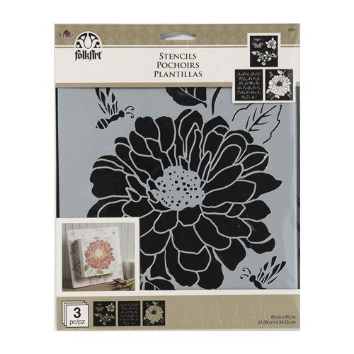 FolkArt ® Craft Stencils - Value Packs - Garden