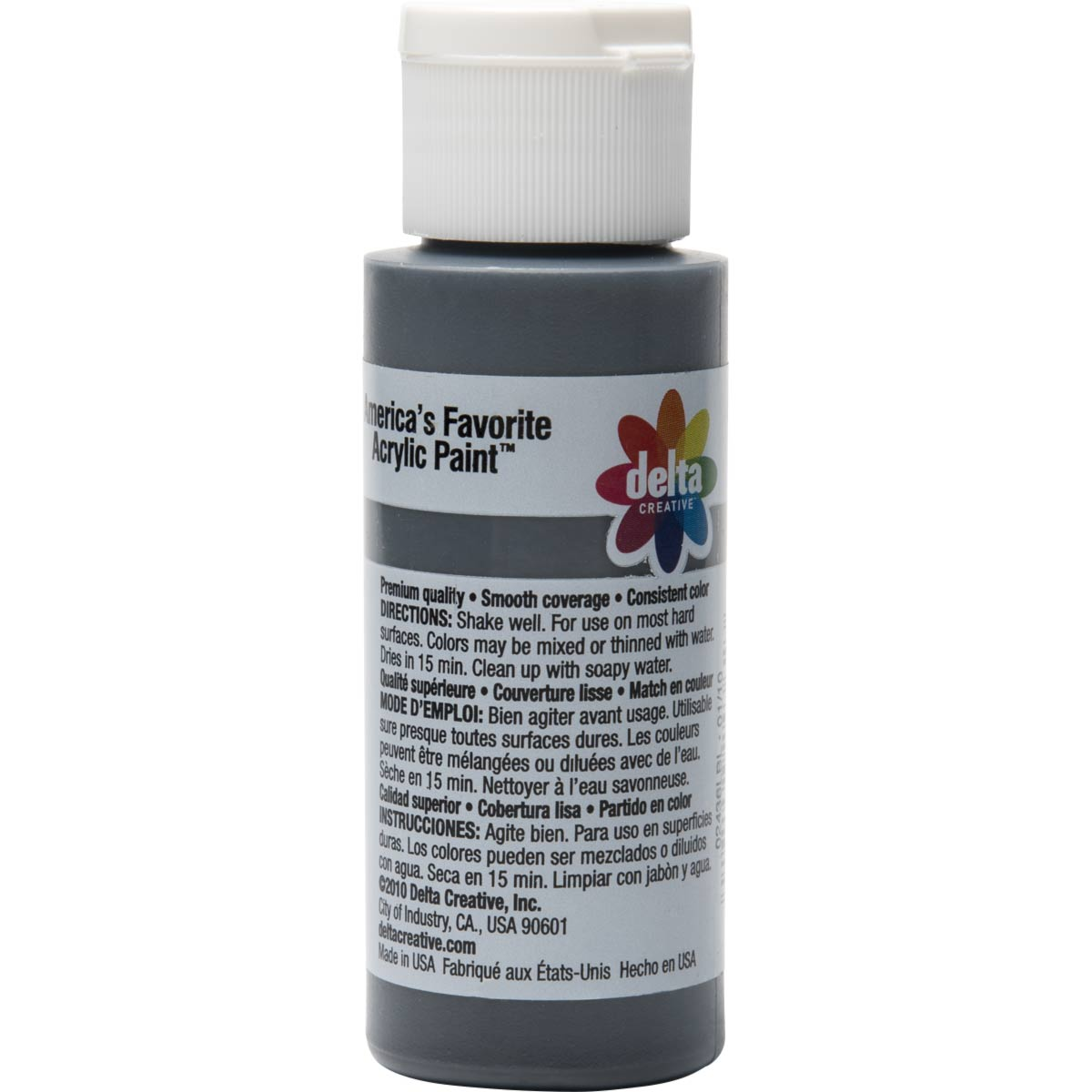 Delta Ceramcoat ® Acrylic Paint - Charcoal, 2 oz. - 024360202W