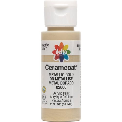 Delta Ceramcoat ® Acrylic Paint - Metallic Gold, 2 oz.