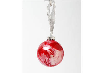 Marbleized Glass Ornaments