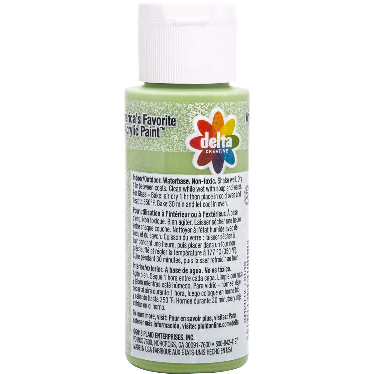 Delta Ceramcoat ® Frosted Glass Paint - Seagrass, 2 oz.