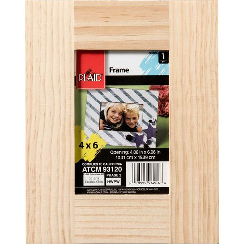 Plaid ® Wood Surfaces - Frames - Medium Memory Frame with Easel Back