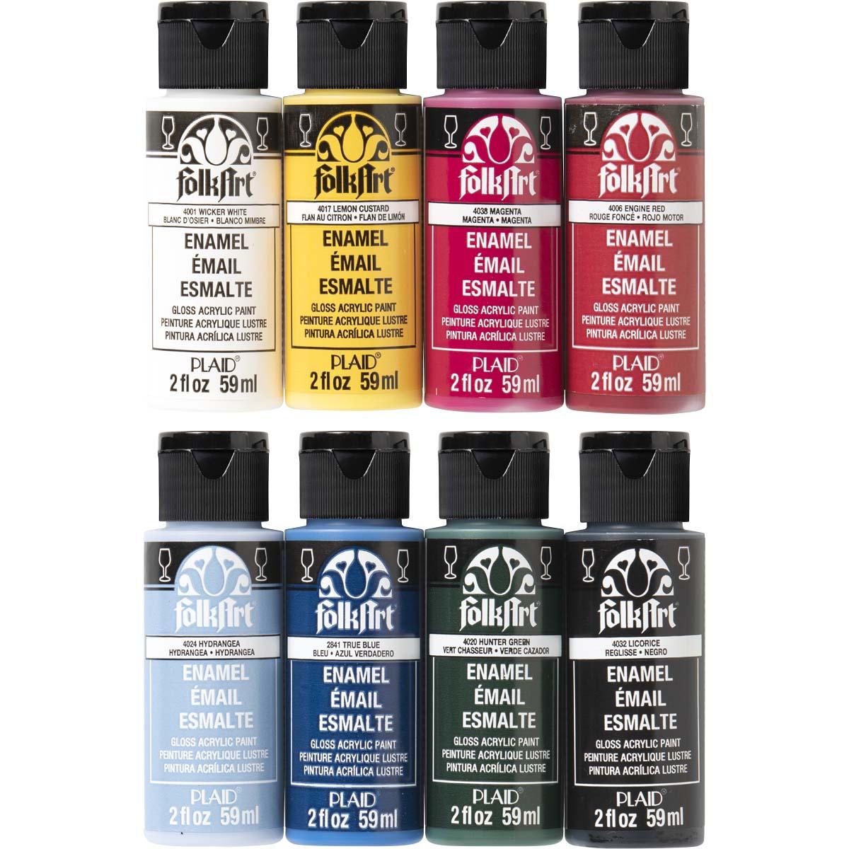 FolkArt ® Enamels™ Top 8 Color Set
