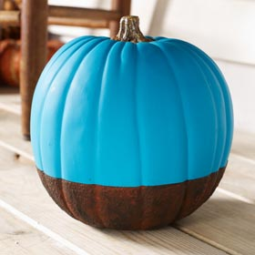 Rustic Aqua Pumpkin