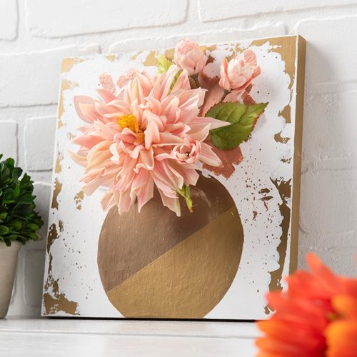 3D Floral Canvas DIY Wall Art