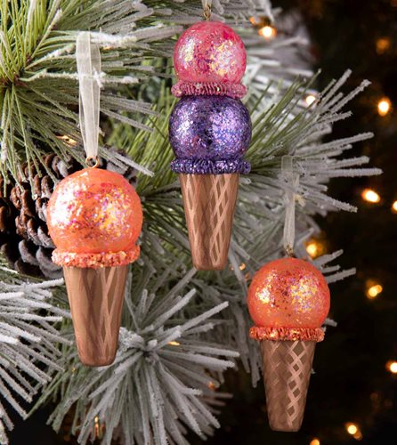 DIY Ice Cream Cone Ornaments