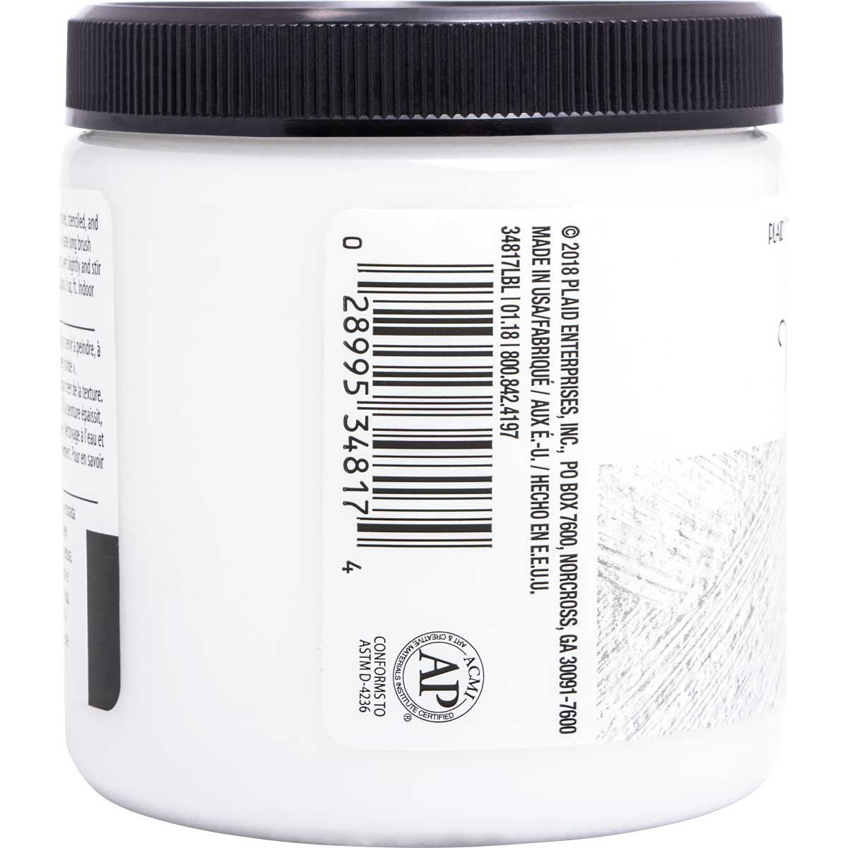 FolkArt ® Home Decor ® Texture Chalk™ - Whisper White, 8 oz.