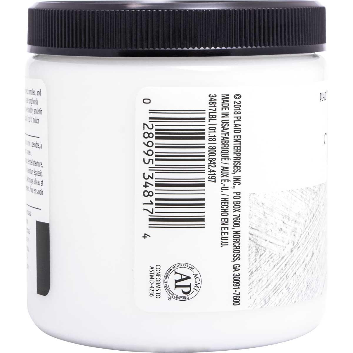 FolkArt ® Home Decor ® Texture Chalk™ - Whisper White, 8 oz.