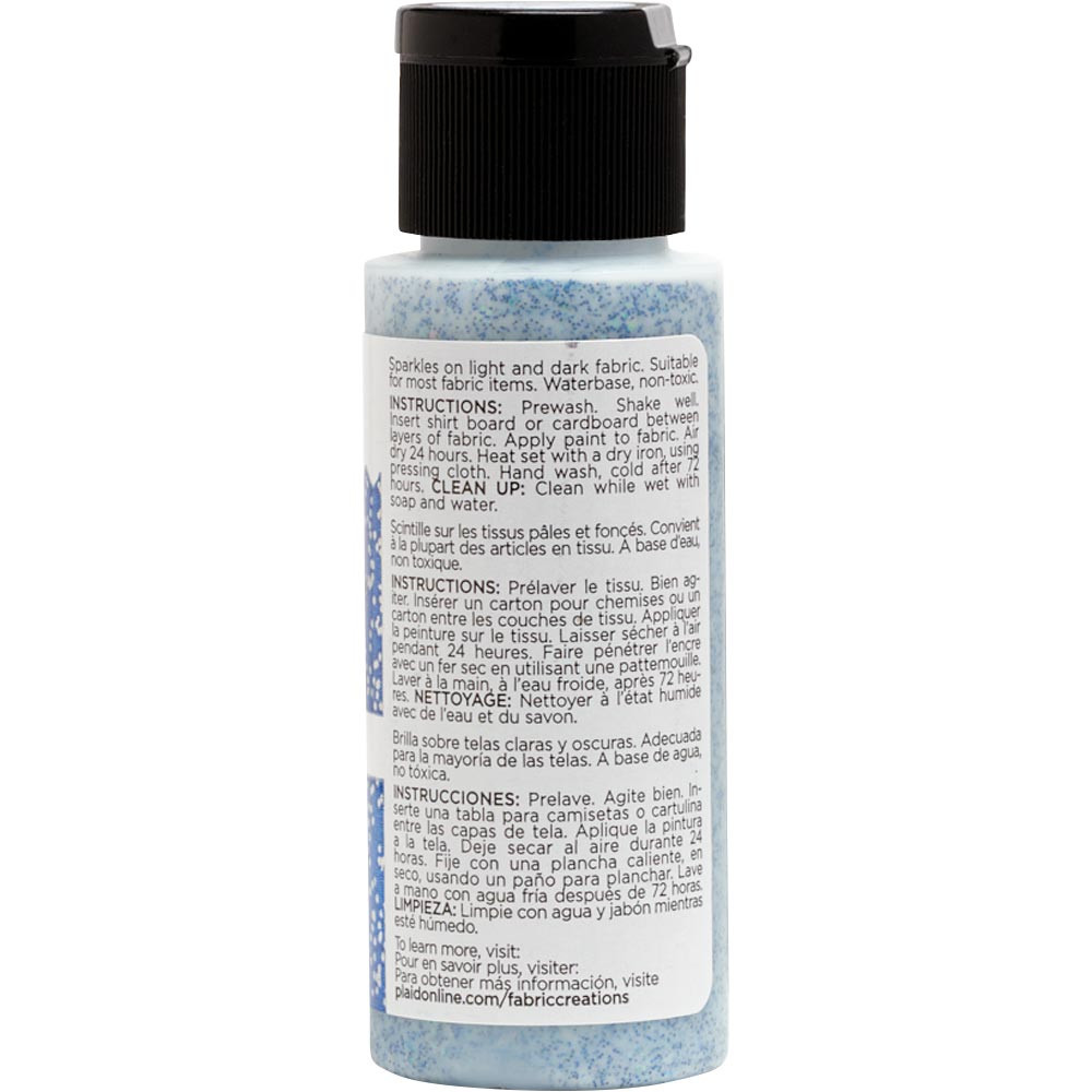 Fabric Creations™ Fantasy Glitter™ Fabric Paint - Altantis Blue, 2 oz.