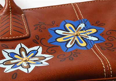 Boho Flower Leather Purse