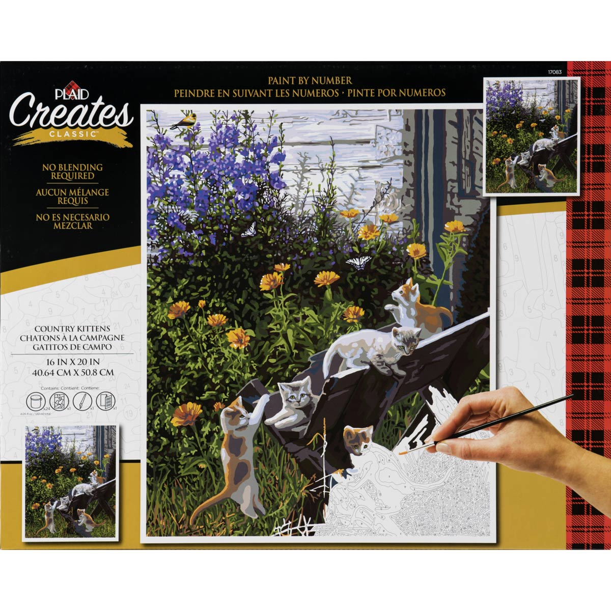 Plaid ® Paint by Number - Country Kittens