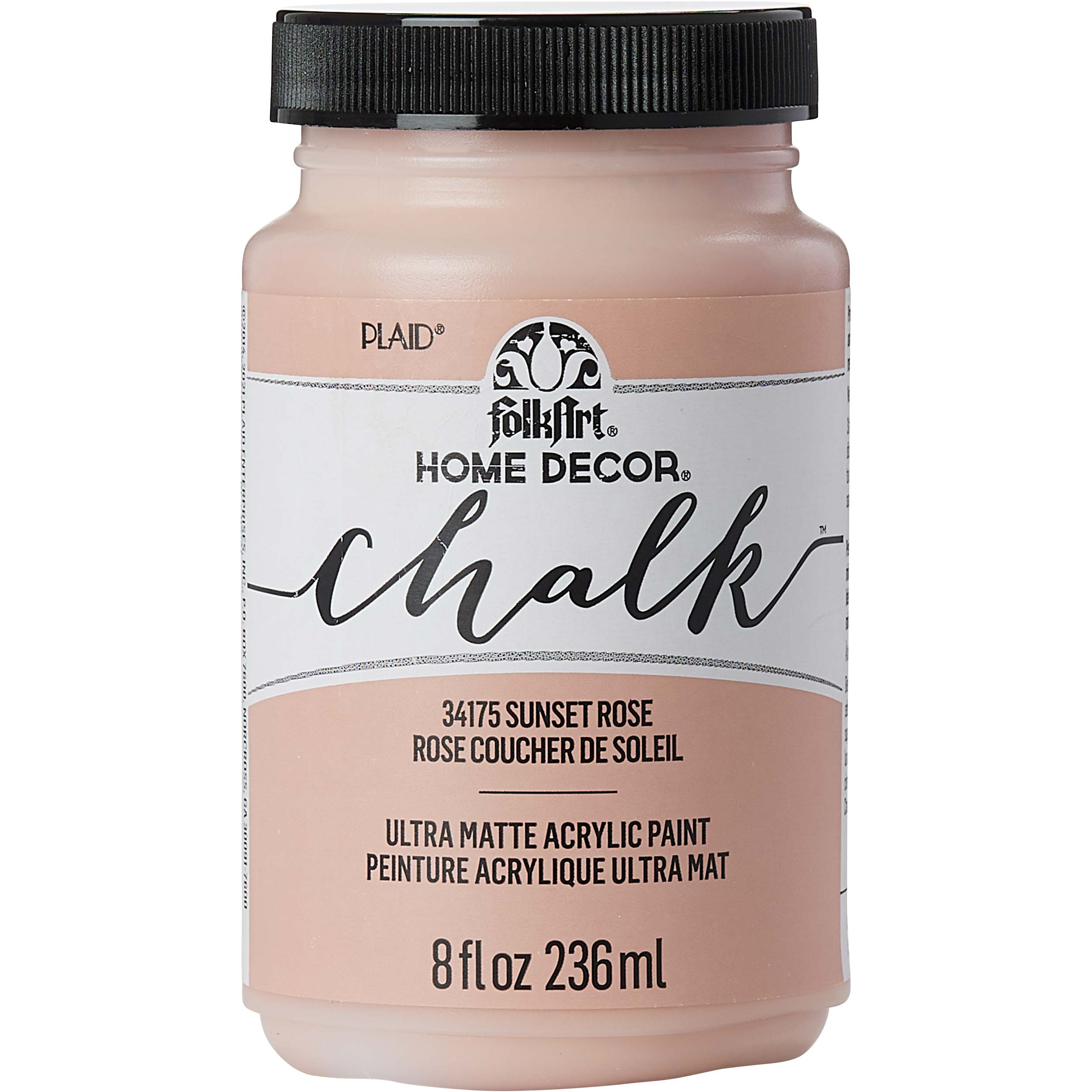 FolkArt ® Home Decor™  Chalk - Sunset Rose, 8 oz. - 34175